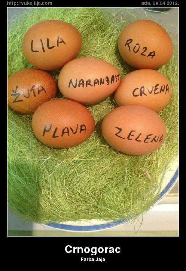Tucanje - Crnogorac ofarbao jaja